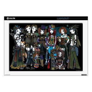 """Un circo de hadas 17"""" de Steampunk mac y PC de la  43,2cm Portátil Calcomanía"""