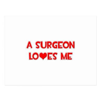 Un cirujano me ama postal