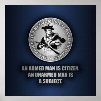 Un ciudadano armado póster