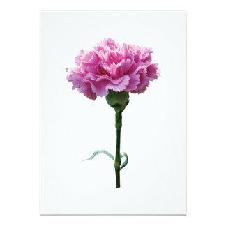 Un clavel rosado anuncio personalizado