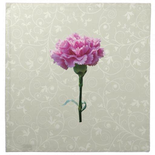 Un clavel rosado servilletas
