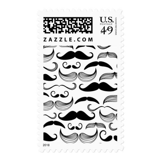 Un club de los caballeros. Modelo 2 del bigote Timbre Postal