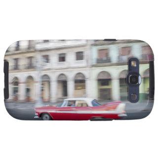 Un coche viejo que cruza las calles de La Habana,  Samsung Galaxy SIII Funda