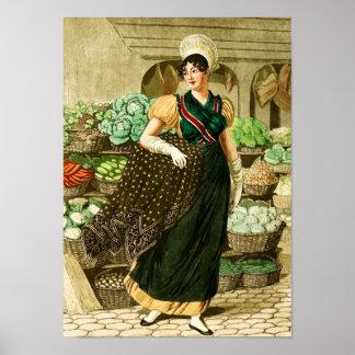 Un cocinero en el mercado posters