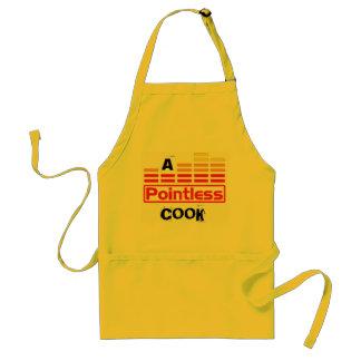 Un cocinero insustancial delantal