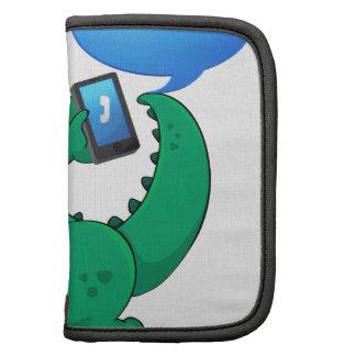 un cocodrilo con el teléfono celular organizador