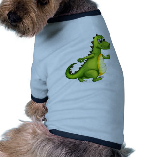 Un cocodrilo que camina camiseta con mangas para perro