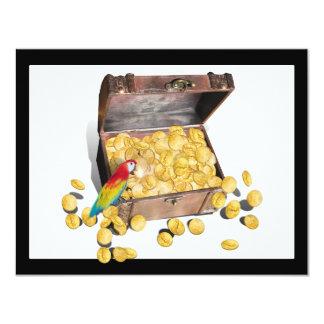 """Un cofre del tesoro de los piratas (añada el color invitación 4.25"""" x 5.5"""""""