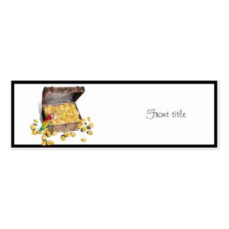 Un cofre del tesoro de los piratas (añada el color tarjetas de visita mini