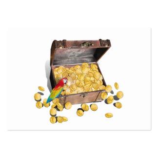 Un cofre del tesoro de los piratas (añada el color tarjetas de visita grandes