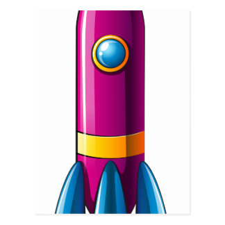 Un cohete colorido tarjeta postal