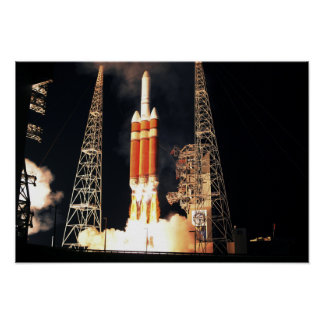 Un cohete pesado del delta IV quita Póster