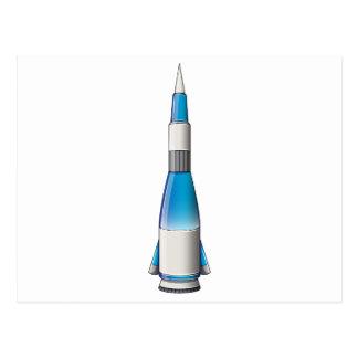 Un cohete tarjetas postales
