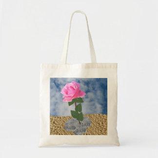 Un color de rosa en el desierto bolsa tela barata