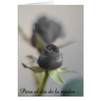 Un color de rosa negro para la madre… tarjeta pequeña