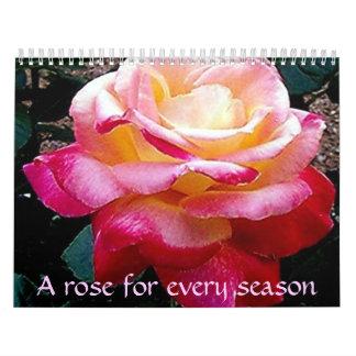 Un color de rosa para cada estación calendarios de pared