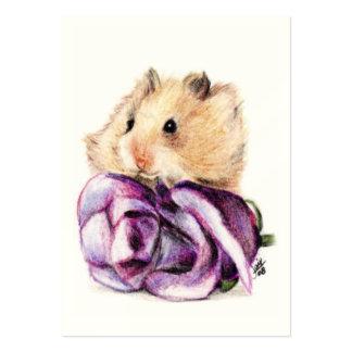 Un color de rosa para las tarjetas de comercio del tarjetas de visita grandes
