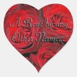 Un color de rosa por cualquier otro conocido… colcomanias de corazon
