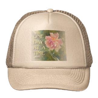Un color de rosa rosado del día a la vez gorros