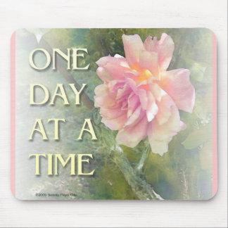 Un color de rosa rosado del día a la vez tapetes de ratón