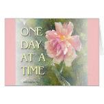 Un color de rosa rosado del día a la vez tarjeta