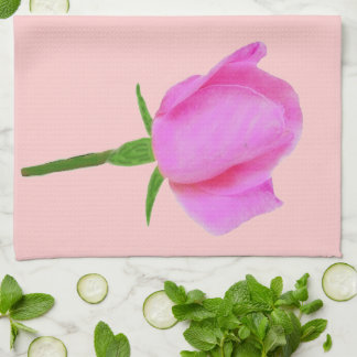 Un color de rosa rosado toalla