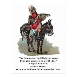 Un comandante en jefe de Clucky Postal