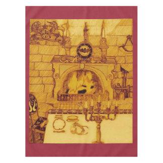 Un comedor en un castillo mantel de tela