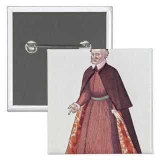 Un comerciante veneciano pin cuadrado