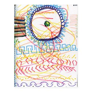Un compromiso y una expresión ordenados de generat tarjeta postal
