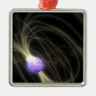 Un concepto del artista del magneta 1806-20 de SGR Adorno Navideño Cuadrado De Metal
