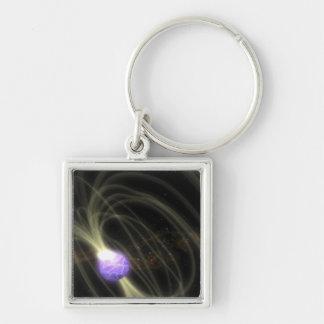 Un concepto del artista del magneta 1806-20 de SGR Llavero Cuadrado Plateado
