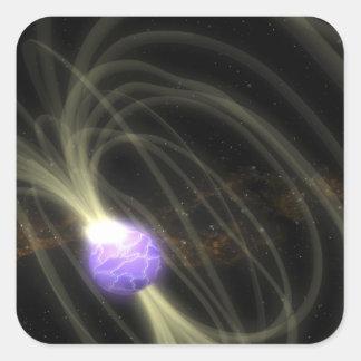 Un concepto del artista del magneta 1806-20 de SGR Pegatina Cuadrada