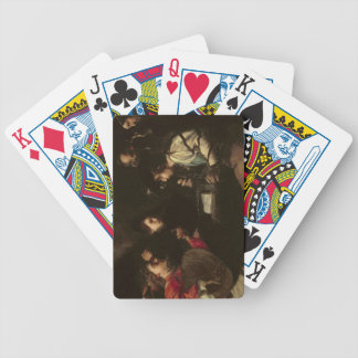 Un concierto c 1610-20 aceite en lona baraja de cartas