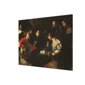 Un concierto, c.1610-20 (aceite en lona) impresión en lienzo