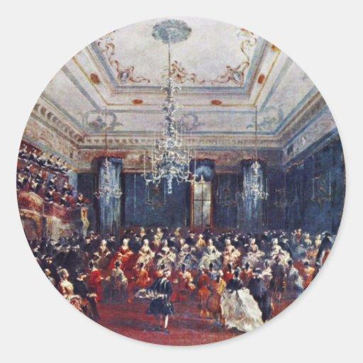 Un concierto de gala veneciano de Francesco Guardi Etiqueta Redonda