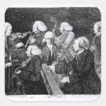 Un concierto en Cambridge, 1770 Pegatina Cuadrada