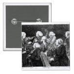 Un concierto en Cambridge, 1770 Pin Cuadrado