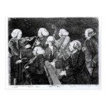 Un concierto en Cambridge, 1770 Postales