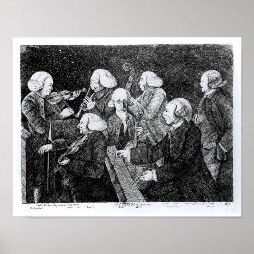 Un concierto en Cambridge, 1770 Póster