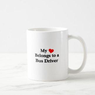 Un conductor del autobús tiene mi corazón taza