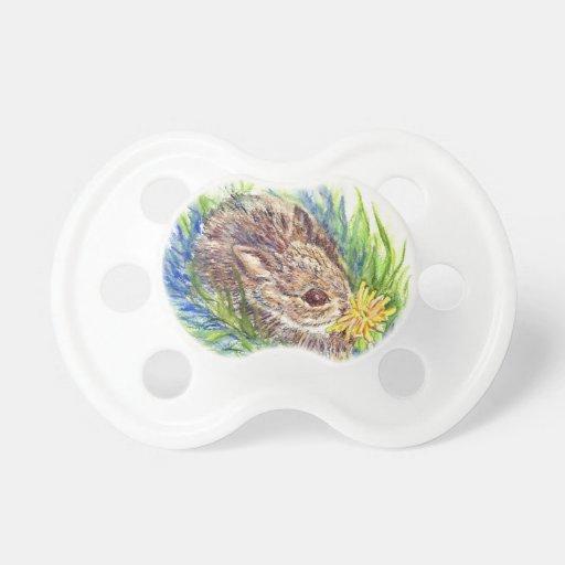 Un conejo de conejo de rabo blanco del bebé - lápi chupete