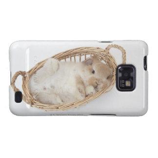 Un conejo está en una cesta Holanda Lop Galaxy SII Coberturas
