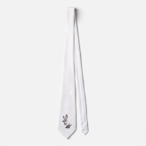 un conejo feliz para vestirse para arriba corbata personalizada