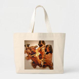 Un conjunto de perros musicales bolsa de tela grande