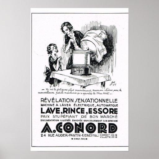 Un Conord, lavadora Posters