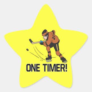 Un contador de tiempo pegatina en forma de estrella