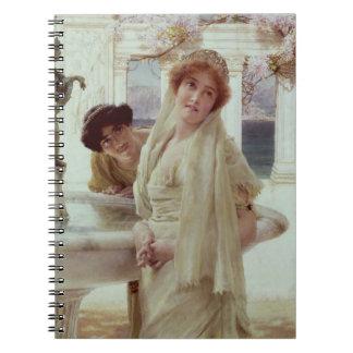 Un contraste de pareceres, 1896 (aceite en el pane libro de apuntes con espiral