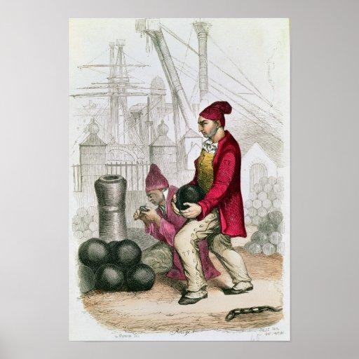 Un Convict en la colonia penal de Toulon Póster