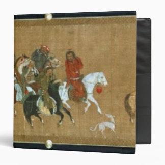 Un convoy de Mongols, chinos, siglo XIV